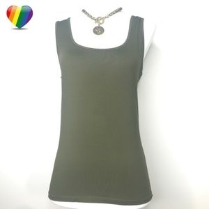 Zara Dark Green Sleeveless Tank Top A090233